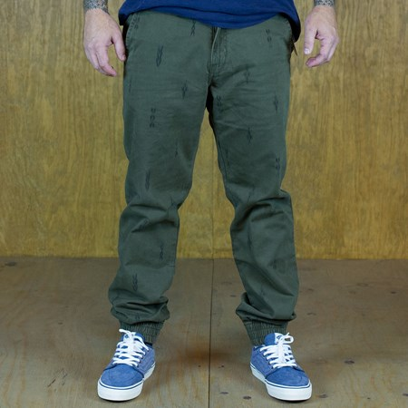 Size 30 in Vans Excerpt Pegged Chino Pants, Color: Forest Night Pattern
