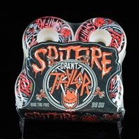 $30.00 Spitfire Wheels Grant Taylor No Mercy Wheels, Color: White