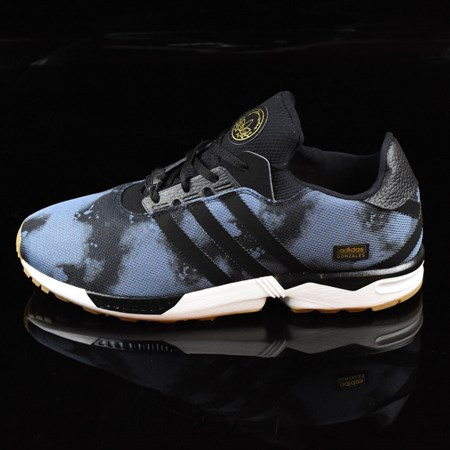 Size 10.5 in adidas ZX Gonz Shoes, Color: Faded Ink, Black