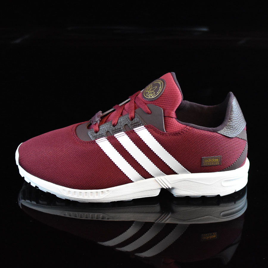 cheaper 59f66 092cc ZX Gonz Shoes Burgundy, White In Stock at The Boardr