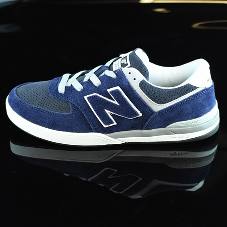 Size 10.5 in NB# Logan-S 636 Shoes, Color: Navy, Grey