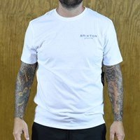 $25.00 Brixton Ramsey Premium T Shirt, Color: White