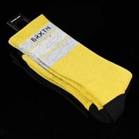$10.00 Brixton Elmore Socks, Color: Yellow