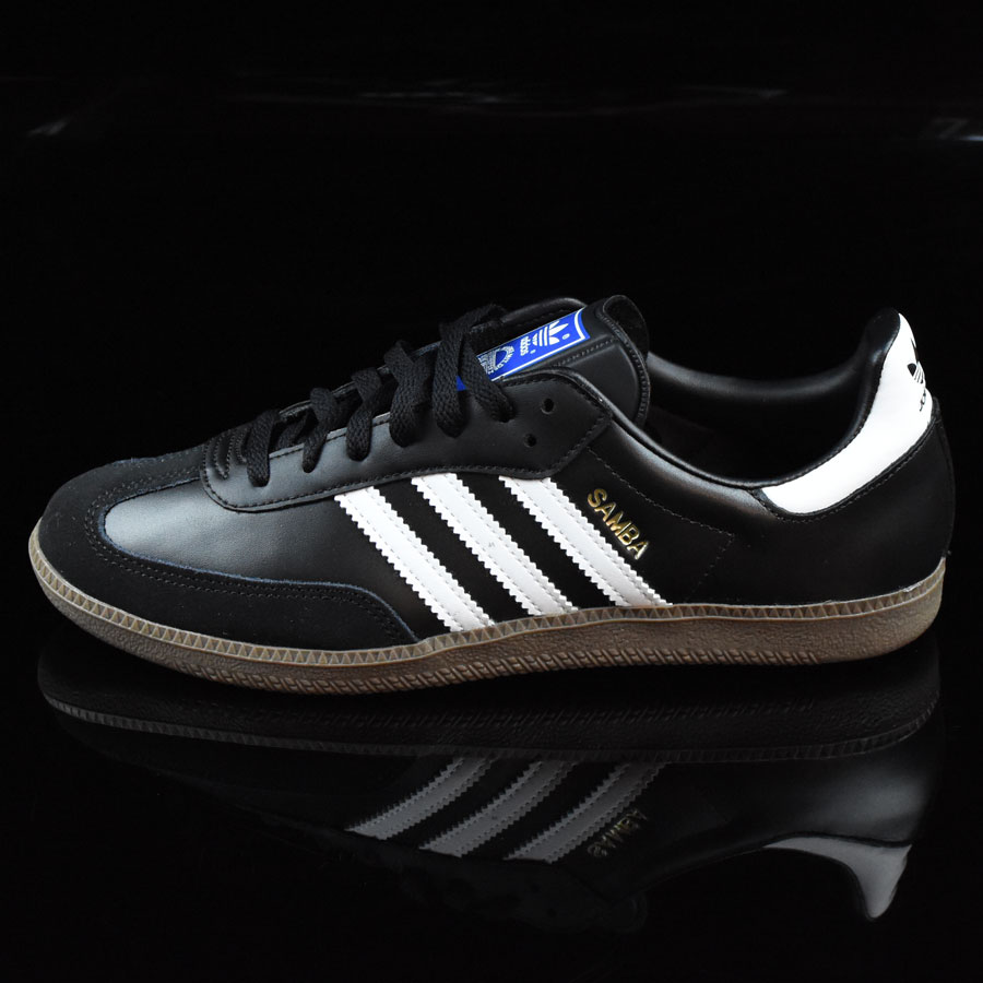 samba shoes black white gum in stock at the boardr