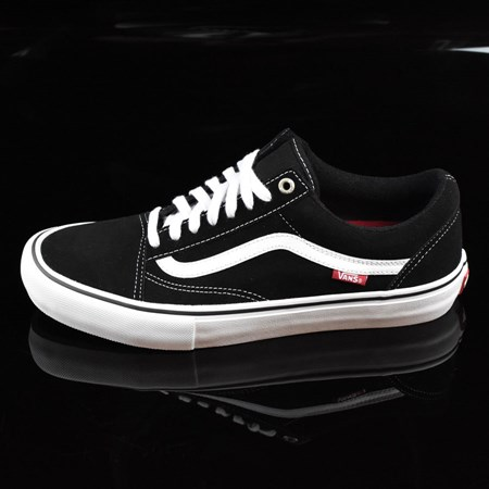 Size 11 in Vans Old Skool Pro Shoes, Color: Black, White, Red