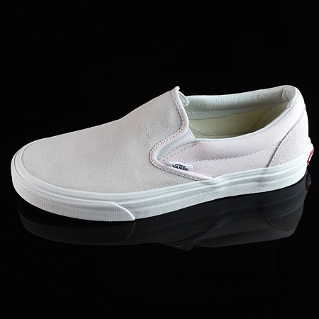 Size 8.5 in Vans Classic Slip On Shoes, Color: Orchard Ice, White