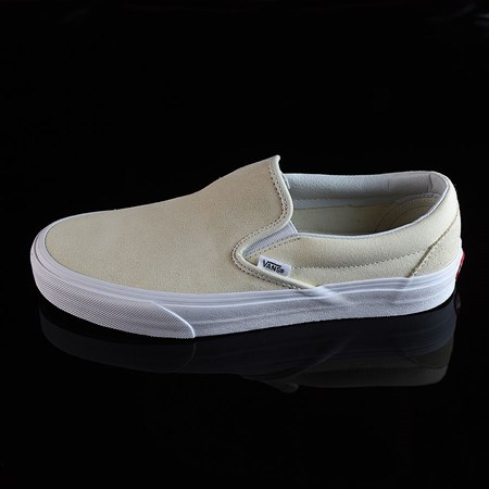Size 8.5 in Vans Classic Slip On Shoes, Color: Afterglow, White