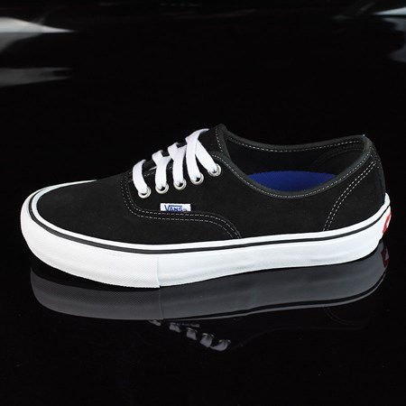 Size 8.5 in Vans Authentic Pro Shoes, Color: Black Suede, White