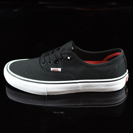 Size 8.5 in Vans Authentic Pro Shoes, Color: Black, White