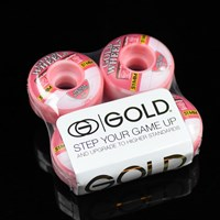 $30.00 Gold Wheels Strawberry Sweets Hamilton Wheels, Color: Pink Swirl