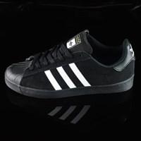 $75.00 adidas Superstar Vulc ADV Shoes, Color: Black Suede, Black, White