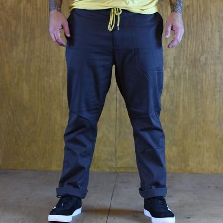 Size Large in Brixton Reserve Standard Fit Drawstring Pants, Color: Washed Black