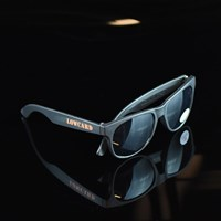 $8.00 Lowcard Magazine Low Hand Shades Sunglasses, Color: Black, Orange