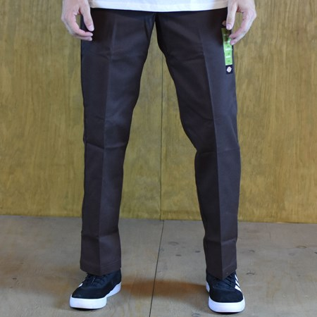 Size 30 X 30 in Dickies 67 Collection Slim Straight Work Pants, Color: Brown