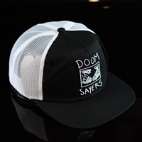 $28.00 Doom Sayers DSC X Knowledge Snake Shake Trucker Hat, Color: Black, White
