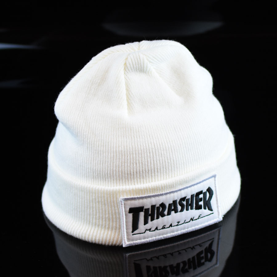 84824959607 Patch Beanie White In Stock at The Boardr