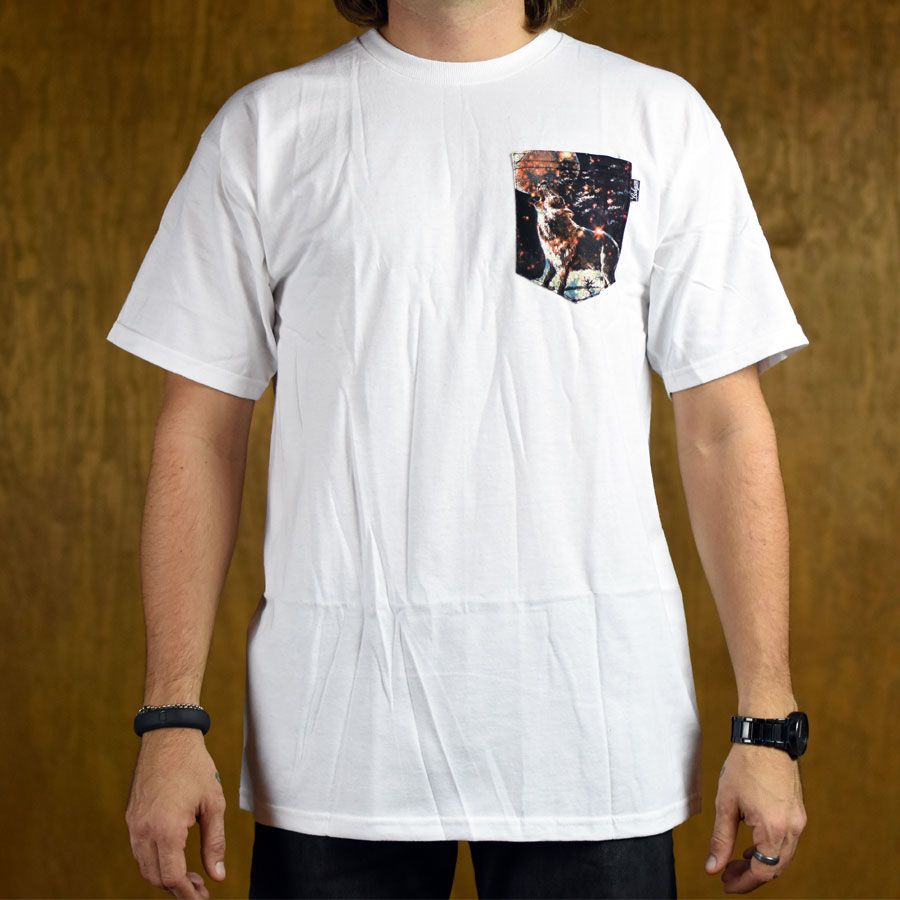 Howlin 39 custom pocket t shirt white in stock at the boardr for Custom t shirt with pocket