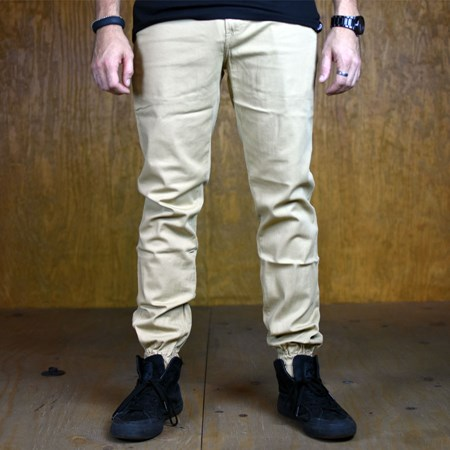 Size 32 in Primitive Carnaby Joggers, Color: Khaki