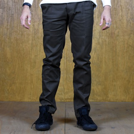 Size 36 in Brixton Reserve Rigid Standard Fit Chino Pant, Color: Brown