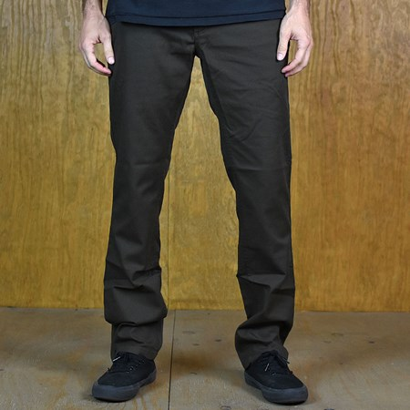 Size 36 in Brixton Reserve Standard Fit Chino Pant, Color: Brown