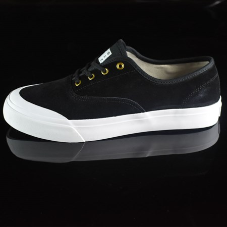 Size 11.5 in HUF Brad Cromer Pro Shoes, Color: Black, White