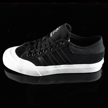 Size 10.5 in adidas Matchcourt Low Shoes, Color: Black, Black, White