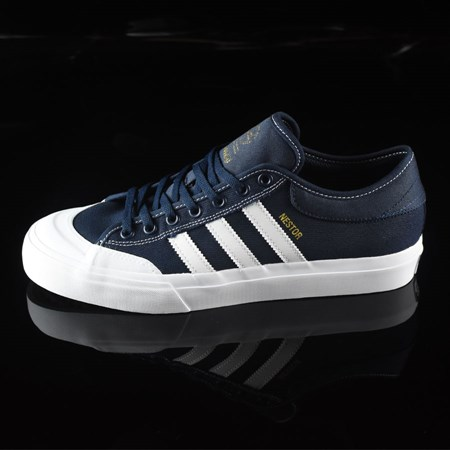Size 10 in adidas Matchcourt Low Shoes, Color: Navy, White, Nestor