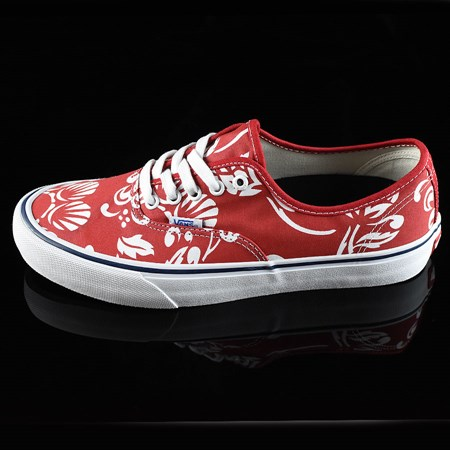 Size 10.5 in Vans Authentic Pro 50th '66 Shoes, Color: Duke. White, Red