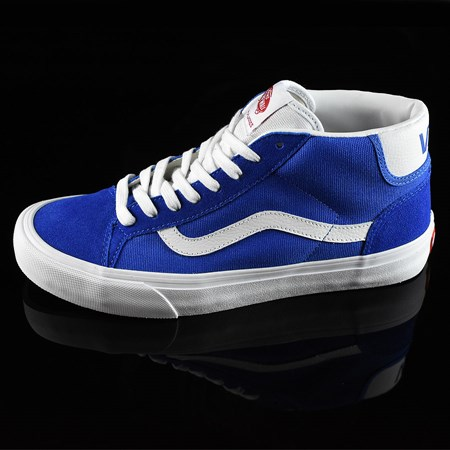Size 11 in Vans Mid Skool Pro 50th '79 Shoes, Color: Blue, White