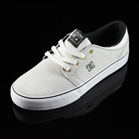 Size 10.5 in DC Shoes Trase S SE Tristan Shoes, Color: White, Green