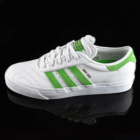 Size 8.5 in adidas Adi-Ease Premiere Away Days Shoes, Color: White, Green