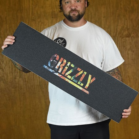 Grizzly Griptape Torey Pudwill Stamp Griptape Black, Orange Tie-Dye
