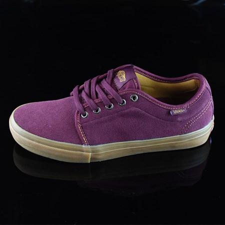 Size 9.5 in Vans Chukka Low Pro Shoes, Color: Port, Gum
