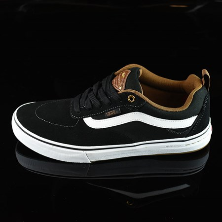 Size 8.5 in Vans Kyle Walker Pro Shoes, Color: Black, White, Gum