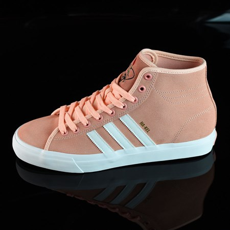 Size 10.5 in adidas Matchcourt RX Na-Kel Shoes, Color: Haze Coral, White, Haze Coral