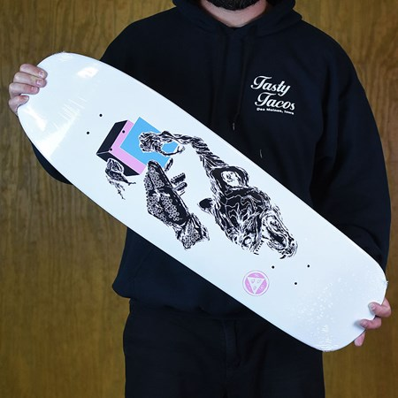 Welcome Face Of A Lover On Slappy Slap Deck White Dip