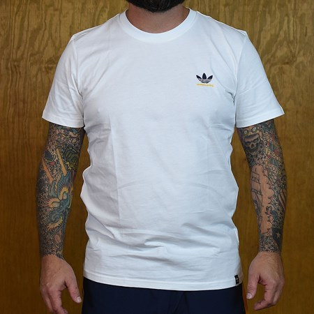 adidas adidas X Hardies T Shirt White, Navy, Yellow