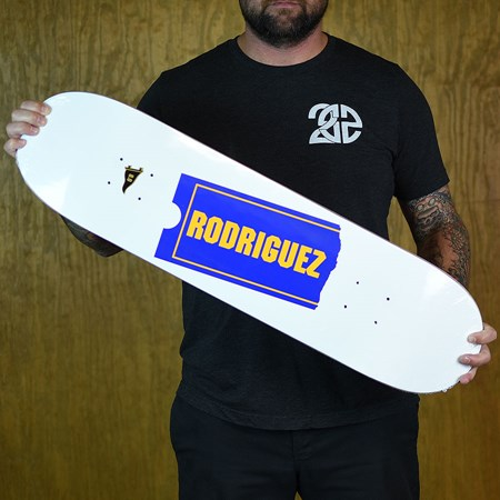 Primitive Paul Rodriguez Late Fee Deck White