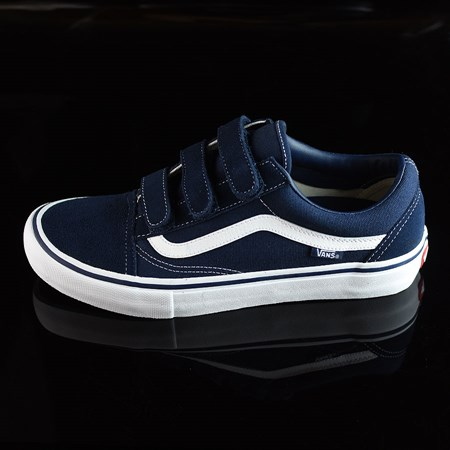 Size 11 in Vans Old Skool V Pro Shoes, Color: Navy, White