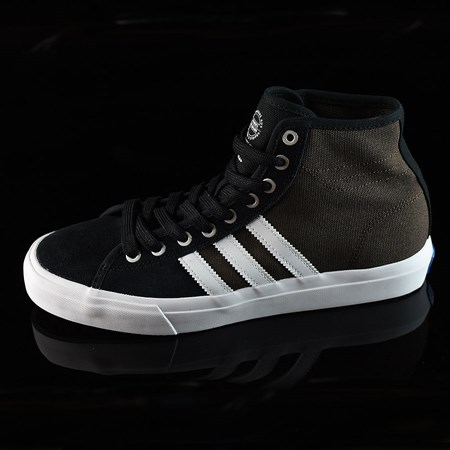 Size 11 in adidas Matchcourt High RX Shoes, Color: Black, Brown, White