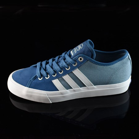 Size 8.5 in adidas Matchcourt Low RX Shoes, Color: Core Blue, White, Tactical Blue