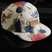 $44.00 RIPNDIP Floral Camp Hat, Color: Tan