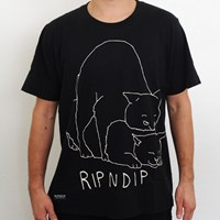 $30.00 RIPNDIP Nermal Lovin T Shirt, Color: Black