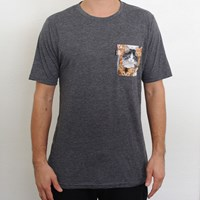 $34.00 RIPNDIP Nermal Pocket T Shirt, Color: Charcoal