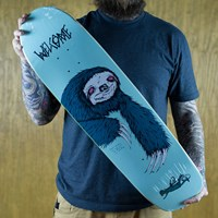 $50.00 Welcome Sloth On Waxing Moon Deck, Color: Ice Blue
