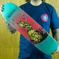 $50.00 Welcome Jackalope On Squidbeak Deck, Color: Red, Blue